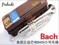 Wholesale DHL Senior French brand Silveriness bach trumpet tr gs Small musical instrument professional grade