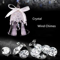 bell car accessories - Swarovski Crystal Wind chimes Pendants Christmas Bell Modern Art Car Ornaments car Accessorie Car Pendants Express Shipping