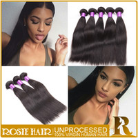 Wholesale Mink Hair Weaves Brazilian Hair Bundles Natural Black Straight Peruvian Malaysian Indian Hair Extensions Double Weft inch Bundles