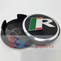 Wholesale 100pcs Leap R Alloy Black Wheel Center Caps Badges