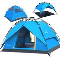 best waterproof tent - Famous Brand Best Quality Double Layer Person Tent Waterproof Automatic Camping Tents
