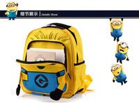 Wholesale 30pcs Despicable Me children cartoon Minion child minions bag backpack for kids children school bags for students schoolbag