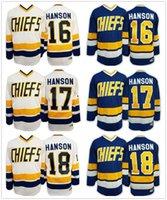 Wholesale 2016 New Hanson Brothers Charlestown Ice Hockey Jersey Jack Steve Jeff Hanson SlapShot Movie Jerseys