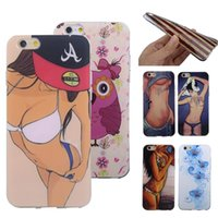sexy cartoon girl - Sexy Girl Cartoon Soft TPU Case for iPhone iphone6 plus cell phones Transparent Gel Cover Cases bags back skin protective shell