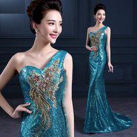 peacock dress - Unique Peacock Sequins Maxi Long Wedding Dresses Bridal Gowns