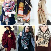 Manta Navidad fiesta señora scarf sobredimensionado Tartan bufanda abrigo chal Plaid acogedor comprobado Pashmina corlorful dama de la moda de impresión de lana bufandas