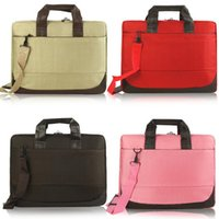 air messenger bag - LJJG117 Fashion Inch Business Single Shoulder Laptop Bag Unisex Casual Portable Computer Bag Colors