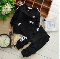 sport clothing wholesale - 2015 Autumn New Children Clothes Little Boy Sets Long Sleeve Sport Children Clothing Sets Y