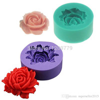fondant flowers - Hot Sale D Rose Flower Fondant Cake Chocolate Sugar Craft Mold Cutter Silicone Tools IA995 W0 SYSR