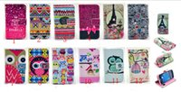 Cheap Cartoon Owl Keep Calm Tribe bowknot Wallet PU leather With Credit Card Slot Case For Samsung Galaxy s3 mini i8190 S4 mini i9190 S5 mini G800