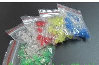Wholesale 10 Values x20pcs mm mm Red Yellow Green Blue White Round led diode Mixed Color kit