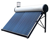 assistant system - 30 vacuum tube compact non pressure solar hot water heating system unpressurized solar collector water heater with assistant tank
