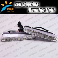 Cheap Super Bright 2x 5 10W 700-900LM White Light LED Bulb Daytime Running Light Driving Fog Lamp 12V Car LED DRL Daylight