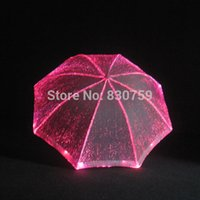 Wholesale Unique design led luminous stage performance tools wear decoration umbrella with RGB changeable colors remote control