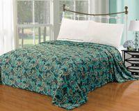 Cheap Euphoria Calitime Brand Super Soft Snug Fluffy Plush FleeceThrow Blanket Sofa Vintage Turquoise Paisley Home Bedding Full Double Queen King