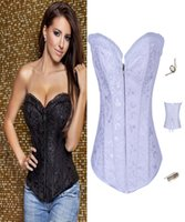 Cheap NEW Fantasy Sexy Black Full Steel Bones Lace Up Corset Top Bustier With G-string Drop Shipping 4006 Plus Size S M L XL XXL