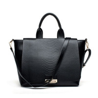 real leather designer handbags - European Style Genuine Leather Handbags Snake Women Big Black Bag Crocodile Brand Designer Tote Real Leather Hand Bags Purse