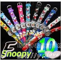 Wholesale OP Cute Snoopy Cartoon Watch D Quartz Promotion children mix colors or can choose colors