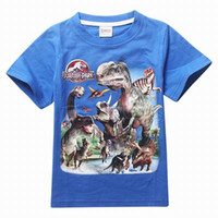 Wholesale Retails to Y Jurassic World dinosaur children kids boys tops tees shirts cotton baby boy t shirt child boys clothes kids clothing
