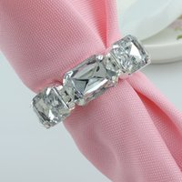 Wholesale Crystal Metal Napkin Rings Hotel Wedding Supplies Party Table Decoration Accessories R213