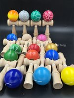 ball tributes - Kendama Ball Fedex IE DHL Size cm Funny Japanese Traditional Wood Game Toy colorful piece tribute professional Boutique