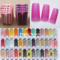 Wholesale Colors Mix Colorful Nails tips Pack Glitter Nail Tips Pre Design Acrylic Art Man