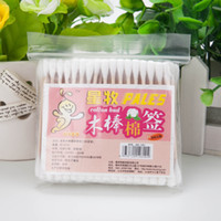Wholesale Cotton pad cotton swab sterile medical cosmetic cotton double slider100pcs bag ear cleaning Makeup Easy installation