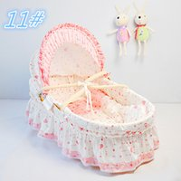 Wholesale Baby Care Bedding Product Baby Bassinet Corn Husk Straw Braid Cradles Portable Baby Crib Infant Sleeping Baskets Colors