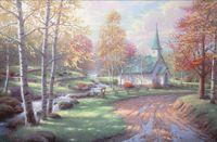 aspen homes - Aspen Chapel by Thomas Kinkade modern Oil painting Home Decor High quality