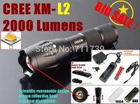 Wholesale AUTHENTIC E17 CREE XM L2 LM led flashlight torch light x rechargeable Battery charger car charger holster