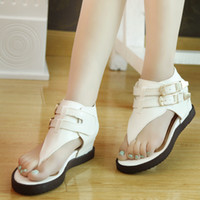 summer shoes woman - Fashion Women Sandals Lady Flat Heel Shoes European Style Sandals For Summer Beach EUZ1