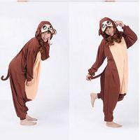 baboon monkey - free PP Finnal Adult Cute Anime Onesies Hooded Baboon Monkey Pyjamas Cosplay Pajamas Halloween Animal Costume Animal Sleepwear