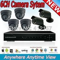 Wholesale Home Shop CCTV Indoor IR Dome Camera Outdoor Bullet Camera CH DVR DIY Kit CH CH Security Camera System Color Video