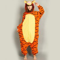 animal homes games - New Arrival Adult cartoon animals sleeper Cosplay tigger Couples dress that occupy the home Performance clothing pajamas