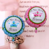 baby princess decorations - A New Little Princess Baby Shower Prince Crown Foil Balloons Birthday Party Decoration Globos Party Baby Boy Gilrs Balls