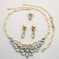 venda por atacado cheap costume jewelry-O ouro amarelo 18K chapeou a jóia Wedding fixa o preço por atacado barato da fábrica !! Conjunto de jóias de dama de honra da mulher 733