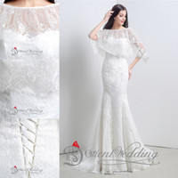 rhinestone applique - In Stock Real Image Sheath Wedding Dresses Bateau Nec Lace Up Long Pote Sleeves Applique Rhinestone Fashion Bridal Dress Sexy Prom Gown