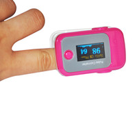 Wholesale PINK Color OLED Fingertip Pulse Oximeter with Audio Alarm RP SPO2 Monitor