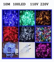 Wholesale Retail m leds Christmas lights string Holiday lights string Wedding decorative light string V V US EU plug