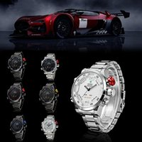 Wholesale New WEIDE Military Watches for Luxury Full Steel Quartz Watch LED Display Sports Wristwatches M Water Resistant Red White Black