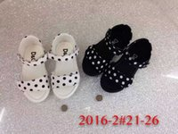 american girl sized shoes - hot sell Children s girl Wave point sandals European and American wind summer dot shoes size