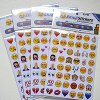 Wholesale 2015 New arrival Emoji stickers emoticons stickers for iphone ipad android phone facebook twitter instagram pages emoji