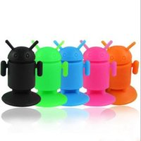 Wholesale Robot Base Candy Colors Phone Mounts Brackets Silicone Sucker Phone Holder