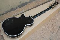 Горячие продажи LP Черный корпус белый пакет Maple края панели Золотые аксессуары на заказ электрическая гитара 6 струнами есть случай