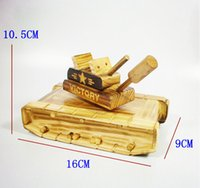 Wholesale 2015 Creative Wooden Rotation Tank Model Music Box Children Toy Unusual Wood Musical Box Gifts for Child