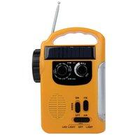 emergency radio - High Brightness LED Camping Lantern Flashlight FM AM Radio Solar Crank Power Emergency Charger Y4344Y