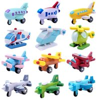 baby gifts export - 12 Set Export Children Diecasts Wooden Airplane Toys CM Minicar Model Vehicle Wooden Mini Airplane Baby Toys Kids Gift