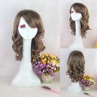 ace ventura - Ace Ventura hair oblique bangs long paragraph full head wig big wave simulation scalp