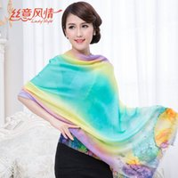 Wholesale Hot The New Autumn And Winter Women Colorful Printed Scarves Wool Shawl F