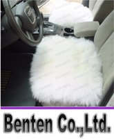 Wholesale New Car Wool Cushion Winter Car Seat Cover Plush Seat Pad Wool Mat Used in Home and Office LLFA4536F